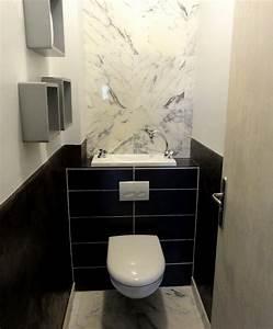 Lavabo Pour Toilette : wc suspendu avec vasque galerie wici bati ~ Edinachiropracticcenter.com Idées de Décoration