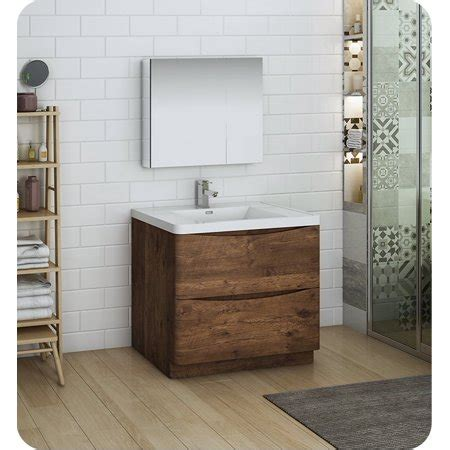 Freestanding Medicine Cabinet by Tuscany 36 Quot Rosewood Free Standing Modern Bathroom Vanity