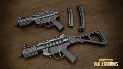 Pubg Gun Mp5k Submachine Battlegrounds Wallpapers Resolution