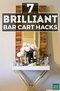 7 DIY Bar Cart Hacks That Are Cheaper Than A Round Of