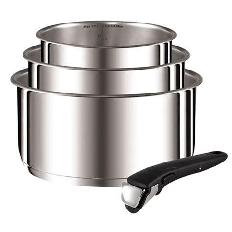 ingenio stainless steel  piece saucepan set