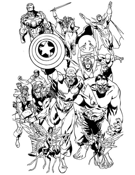 the avengers coloring page download print online