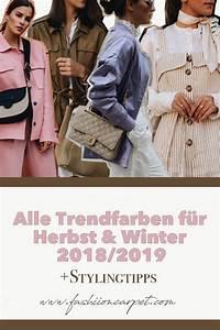 Trendfarben Winter 2018 2019 : trendfarben f r herbst winter 2018 2019 ein berblick fashiioncarpet ~ Orissabook.com Haus und Dekorationen