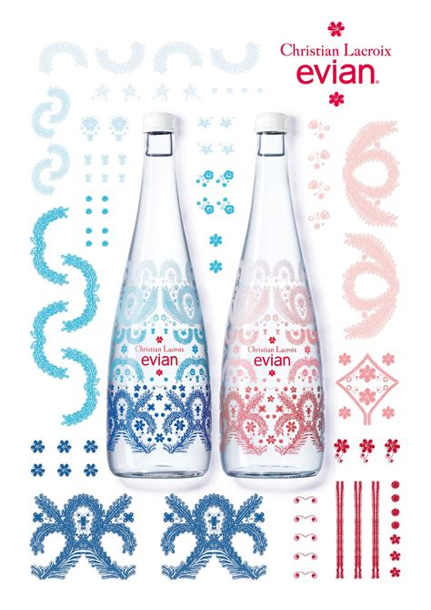 evian  christian lacroix  limited edition bottle