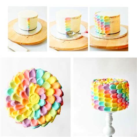 idee de decoration dun rainbow cake