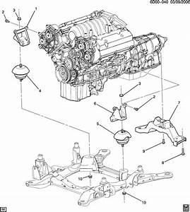 Cadillac Srx Mount  Engine Mount Dampening  Engine