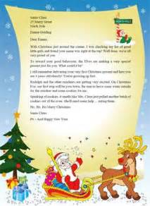 letter  santa template word santa claus stationary