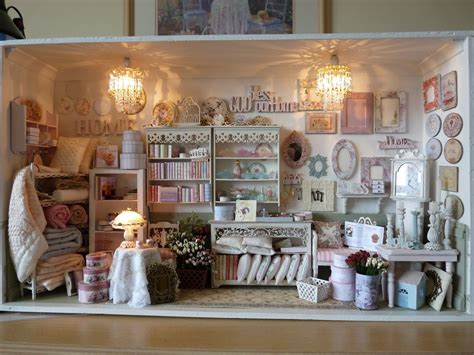 Miniature Shabby Chic Shop In 112 Scale Room Box