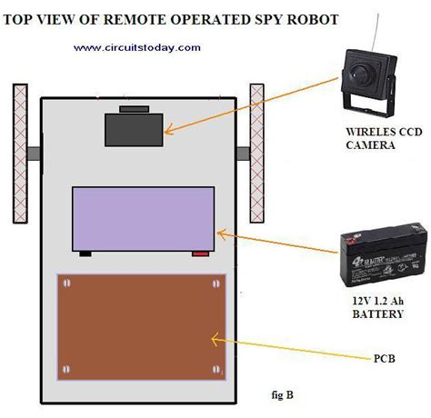 Remote Operated Spy Robot Circuit Electronic Circuits