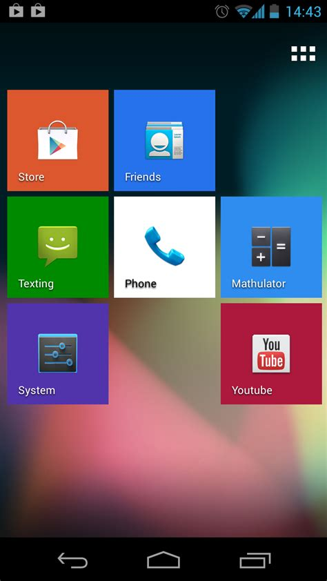 tile for phone tile launcher beta brings wp looks to android 4 0 devices