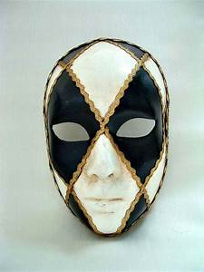 Full Face Black/White - Venetian Masks - 1001 Venetian Masks