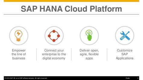 hana cloud overview of sap hana cloud platform