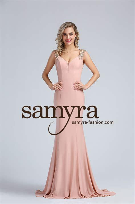 abendkleid altrosa aus jersey samyra fashion