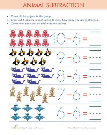 subtract  subtraction worksheets subtraction