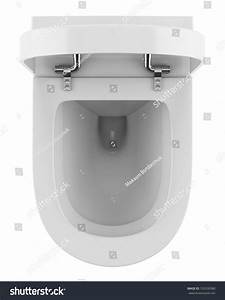 Top View Of Modern Toilet Bowl Isolated On White ...