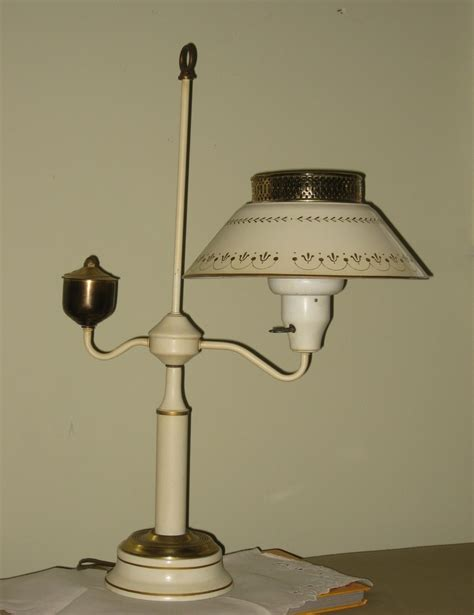Vintage Tole Lamp Gold and Cream Mid Century Metal ...