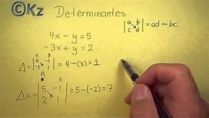 Determinante Berechnen 2x2 : soluci n sistema 2x2 m todo de determinantes youtube ~ Themetempest.com Abrechnung