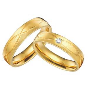 wedding ring pair 1 pair 18k gold plated custom alliance titanium wedding bands couples rings sets for him and jpg