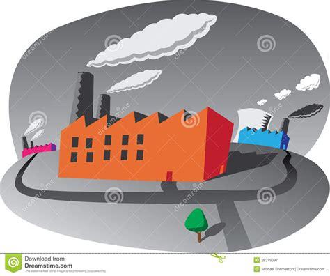 plan des si鑒es air fábricas de la contaminación fotografía de archivo libre de regalías imagen 26319097