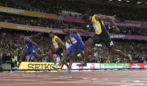 Bold All by Usain Bolt Finishes 3rd In 100 Meter Race Justin