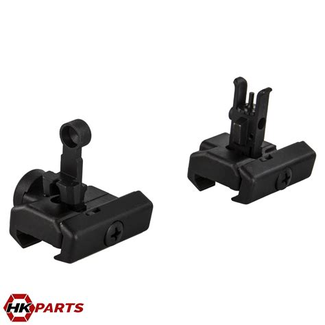 flip front rear sight set complete hk mpa hkparts