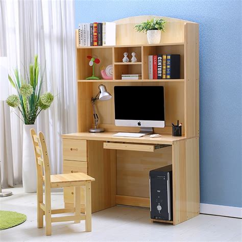study table with bookshelf for children wood desktop computer desk study tables for children home Study Table With Bookshelf For Children