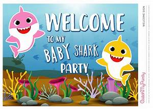 1st birthday invitations printable download these free baby shark party printables catch