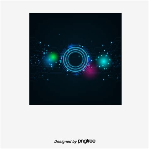 Hd Vector Image by Vector Information Technology Blue Light Science Png