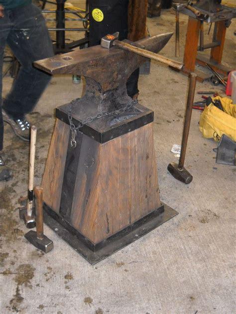 anvil stand blacksmith nwba member steve gatke pinterest