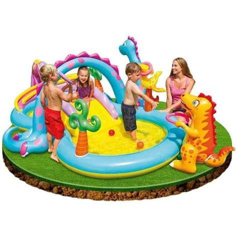 intex piscine gonflable enfant aire de jeux aquatique 333 x 229 x 112 cm dinosaure avec