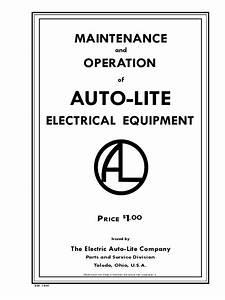 Autolite Generator And Starter Technical Manual