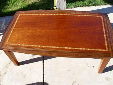 mahogany walnut  zebrawood coffee table