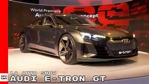 Audi E Tron Gt : audi e tron gt concept at los angeles auto show youtube ~ Medecine-chirurgie-esthetiques.com Avis de Voitures