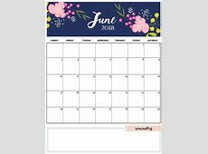 June 2018 Printable Calendar Template Calendar 2018