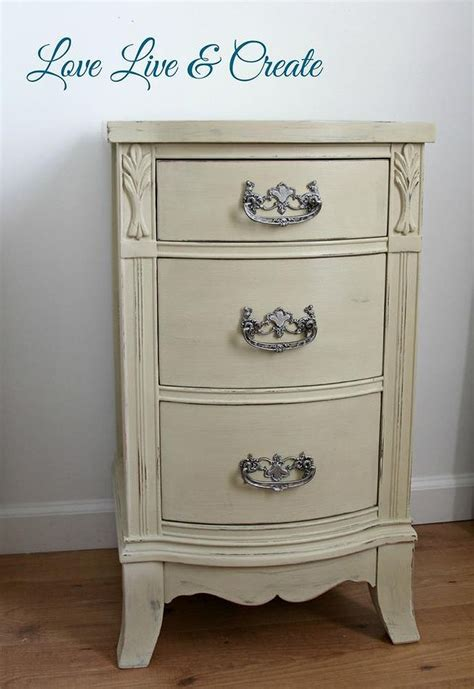 shabby chic nightstand furniture transformed into shabby chic