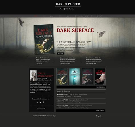 personal page wix website template