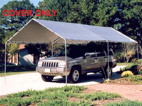 10x20 car king canopy silver replacement tarp for 10 x 20 canopies