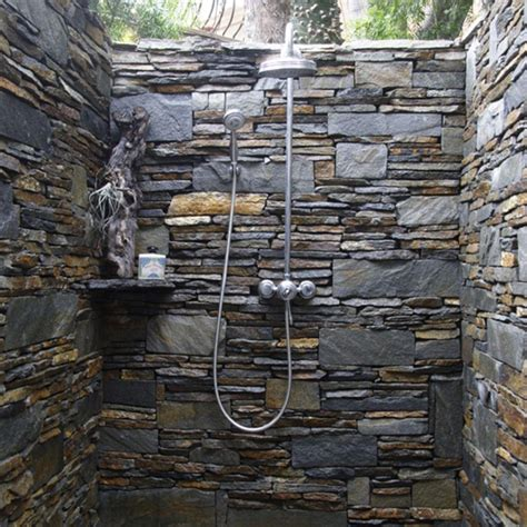 outdoor walls ideas bathroom beautiful outdoor shower with natural decor and luxury touch multicolor natural