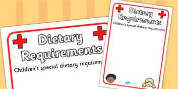 pupil dietary requirements information poster dietry