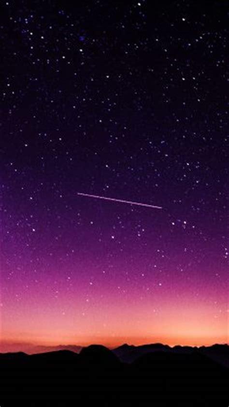 papersco ne star galaxy night sky mountain purple red