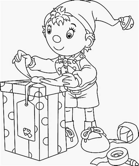 Coloring Xms Gift Wrap by Coloring Pages Noddy Colouring Page