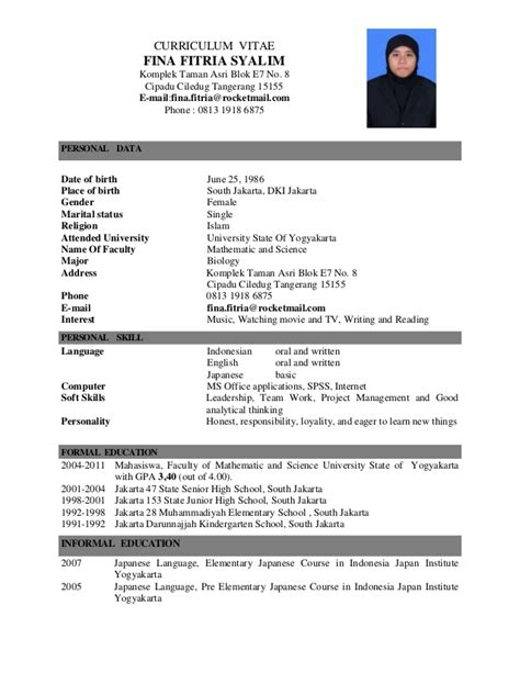 Curriculum Vitae For School Application by Application Letter Cv