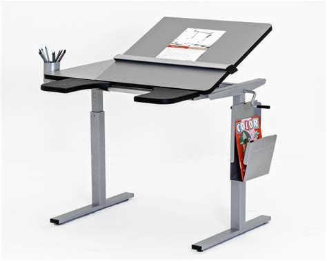 adjustable height table top desk ropox ergo height adjustable table tilting top option