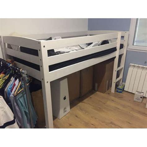 lit mezzanine avec canapé convertible lit mezzanine fly 90 x 190 cm achat vente neuf d