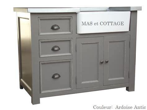 cuisine style cottage anglais meuble evier de cuisine dessus zinc