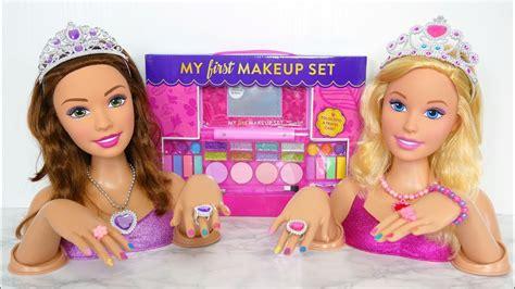 Princess Barbie Deluxe Styling Head Dolls Makeup دمية