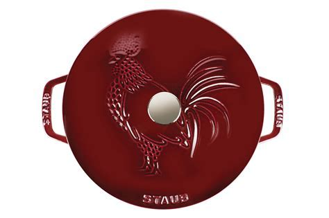 Staub Rooster Design Essential French Oven, 3.75 quart