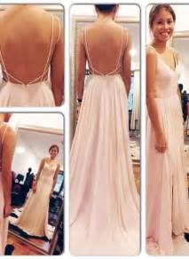 Fashion Backless Simple Sex Long Prom Dress2017 New Style