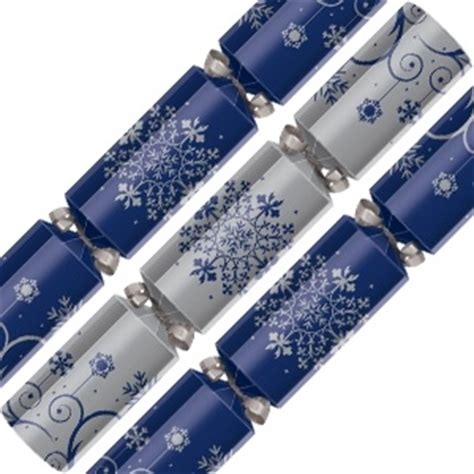 blue and silver christmas crackers jingle bells