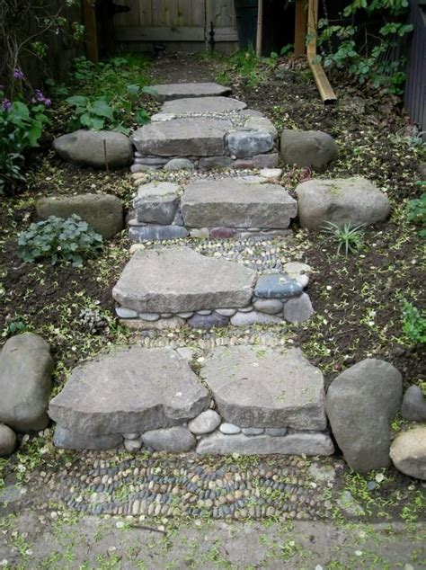 stone walk ways images  pinterest garden paths